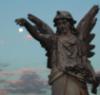 angel holding moon