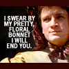 pretty floral bonnet, Nathan Fillion