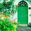 the silver lady: Irish doorway by justlook3