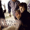 Sherlock - so excited I could pee