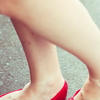 • the red shoes