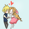 I-chan: Cloud/Aerith - Adorable