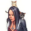 Laura Kinney: Covered in cats.