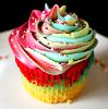 Neon cupcake