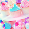 cupcakes pink and blue