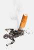 тушим сигарету