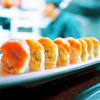 lined-up sushi