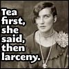 tea then larceny