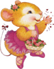 Крыса Фисташка: дарю цветы