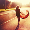 Dana: Road - Girls walking sunny road w umbrel