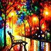Jessica K Malfoy: nature: neon bench