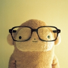 sad side of normal: hipster bear is easily amused