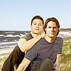 Seleca's Harp: boys on beach