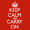 Endurwen Mariska Dracula: England-Keep calm and carry on/red
