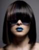 синие губы черные волосы