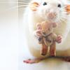DQ: mouse holding teddybear