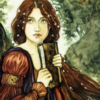 nimue with a book