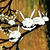 bunnies in tree