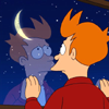 Futurama: Fry staring at the Moon