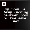 Text - my icon is busy