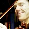 Jesse_Kips: Sherlock - Violin Smile