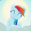 rainbow dash happy