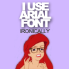 Funny: hipster Ariel