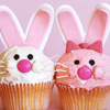 Easter: bunny cupcakes