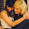 Cinna: parks and recreation: leslie & april hug