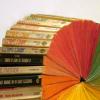 rainbow bookwheel