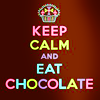 quote: keep calm and eat chocolate