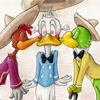 Jose, Duck, Donald, Caballeros, Three