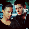 Martha & Dean in front of Impala