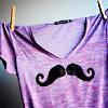 Misc. - Purple Mustache Shirt - 2nd defa
