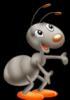 довольный муравей