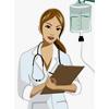 медсестра с папкой