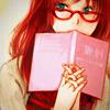 книга, очки, девушка