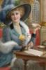 Дама с чашкой чая