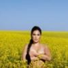 жін - дівка топлес у синьо-жовтому полі