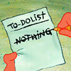 [spongebob] to-do list