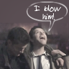 Topetine: spn: i blow him drunk cas