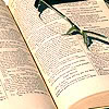livres, lecture, lunettes