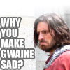 merlin sad gwaine