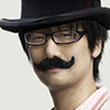 Hideo Kojima Hat Mustache Combo