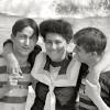 People: Misc: trio on Coney Island beach, Misc: trio on Coney Island beach in 1905