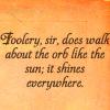 Shakespeare: foolery