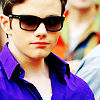 glee: kurt in purple (nyc)
