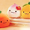 cute food: peach love