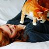 Девушка и кот. Рыжие