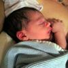 DJ right after birth